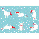 ccx010 | crissXcross | Cats With Santa Hat - postcard A6