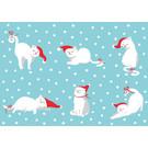 ccx010 | crissXcross | Katzen mit Nikolausmütze - Postkarte A6