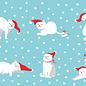 ccx010 | crissXcross | Cats With Santa Hat - postcard A6