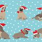 ccx011 | crissXcross | Dogs With Santa Hat - postcard A6