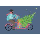 ccx014 | crissXcross | Hipster auf Fahrrad - Postkarte A6