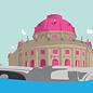 bv038   bon voyage   Museum Island Berlin - postcard A6