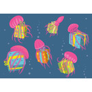 lux008 | luminous | Jellyfish With Gifts - postcard A6