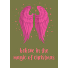 Postkarte - believe in the magic of christmas