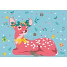 lux015 | luminous | Christmas Bambi - postcard A6