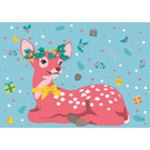 lux015   luminous   Christmas Bambi - Postkarte A6