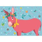 lux016 | luminous | Christmas Donkey - Postkarte A6