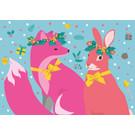 lux017 | Postkarte - Fuchs&Hase