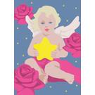lux020 | luminous | Engel mit Stern - Postkarte A6