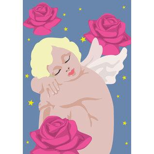 lux021 | Postkarte - Schlafender Engel