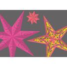 lux024 | luminous | Paper Stars 3 - postcard A6