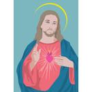 lux025 | luminous | Jesus - Postkarte A6
