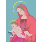 Postkarte - Maria mit Kind