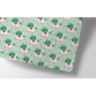 cc726   crissXcross   Christmas Tree Delivery - Geschenkpapier Bogen 50 x 70 cm