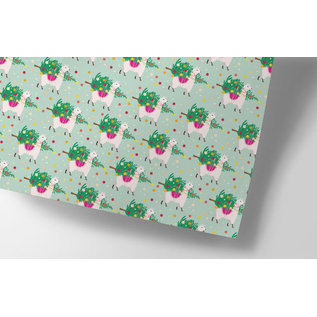 cc726 | crissXcross | Christmas Tree Delivery - wrapping paper Bogen 50 x 70 cm