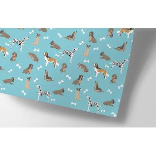 cc731 | crissXcross | Dogs - wrapping paper Bogen 50 x 70 cm