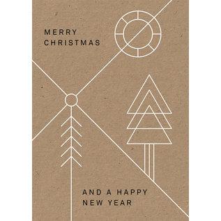 dfx054 | Designfräulein | Geometric Cross - Postkarte A6