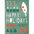 dfx048 | Designfräulein | Candy Cane colourful - postcard A6