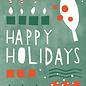 dfx048   Designfräulein   Candy Cane colourful   - Postkarte A6