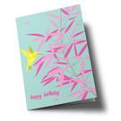ha324 | Klappkarte - Bambus mit Kolibri