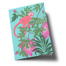 ha327 | happiness | Little Monkey - folding card  B6