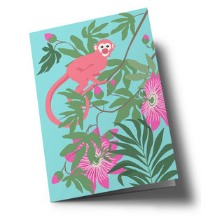 ha327 | happiness | Little Monkey - folding card  B6