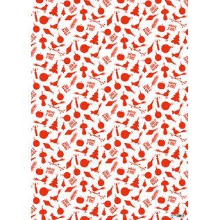 ILX7007 | illi | Zambola - Rot - Geschenkpapier Bogen 50 x 70 cm