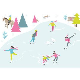 ccx016 | crissXcross | Ice Forest - postcard A6