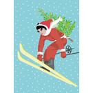 ccx019 | crissXcross | Skifahrerin - Postkarte A6
