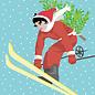 ccx019 | Postkarte - Skifahrerin