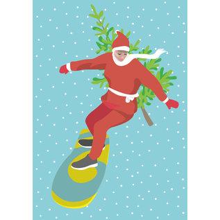 ccx020 | crissXcross | Snowboarderin - Postkarte A6