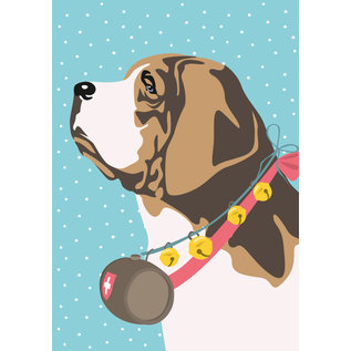 ccx021 | Postkarte - Bernhardiner im Schnee