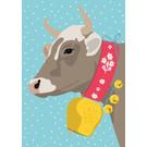 ccx022 | crissXcross | Kuh im Schnee - Postkarte A6