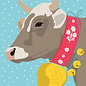 ccx022 | crissXcross | Cow In The Snow - postcard A6