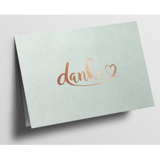 pu085 | Pure | Thank You With Heart, Ivory - folding card  B6
