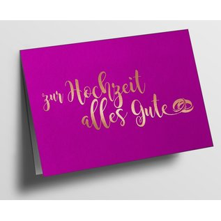 pu089 | Pure | All The Best For The Wedding, Pink - folding card  B6