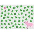 cc167 | Postkarte - Glücksklee mit Schweinchen