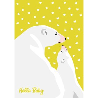 cc168 | crissXcross | Hello Baby Eisbären - Postkarte A6