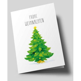 tgx304 | Tabea Güttner | Christmas Tree - folding card  B6