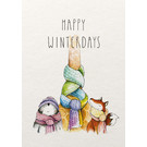 Postkarte - Happy Winterdays