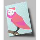 lu302 | luminous | Snow Owl - folding card  B6