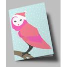 lu302 | luminous | Snow Owl - Klappkarte B6