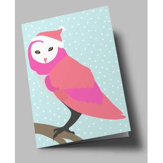 lu302   Folded Card - Snow Owl