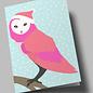 lu302   luminous   Snow Owl - folding card  B6