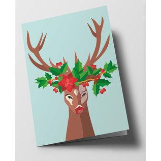 cc301 | crissXcross | Decorated Deer - folding card  B6