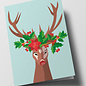 cc301 | Folded Card - Decorated Deer