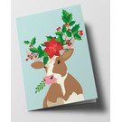 Folded Card - Decorated Bull