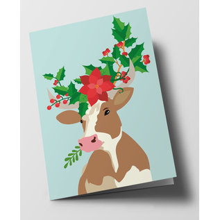 cc302 | Folded Card - Decorated Bull
