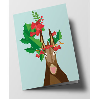 cc304 | crissXcross | Decorated Donkey - folding card  B6