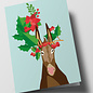 cc304 | Folded Card - Decorated Donkey
